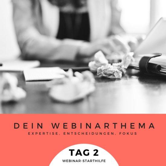 Webinar-Anfänger Bootcamp Tag 2